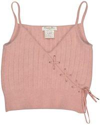 Dior - Vintage Pink Wool Top - Lyst