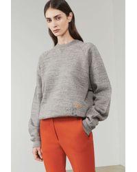 Victoria Beckham - Embroidered Sweatshirt - Lyst