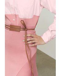 Victoria Beckham - Thin Leather Belt - Lyst