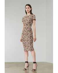Victoria Beckham - Fitted Midi Dress - Lyst