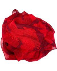 Valentino Echarpe microfibre rouge