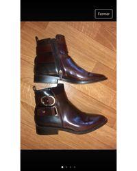 Sandro Bottines & low boots plates simili cuir multicolore