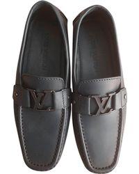 Louis Vuitton Mocassins cuir bleu