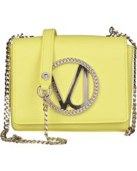 Versace Sac pochette en cuir cuir jaune