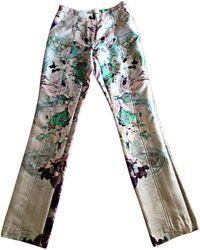 Prabal Gurung Pantalon droit soie multicolore