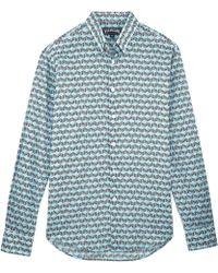Vilebrequin - Fishes Cube Cotton Veil Shirt - Lyst