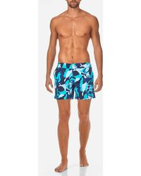 Vilebrequin - Camouflage Turtles Fitted Cut Swim Shorts - Lyst