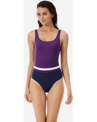 f3a44bd88d308 Vilebrequin - Women Round Neckline One Piece Swimsuit Reverso - Lyst