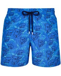 3e006850f578f Vilebrequin Men Swim Trunks Embroidered Armor Turtles - Limited Edition in  Blue for Men - Lyst