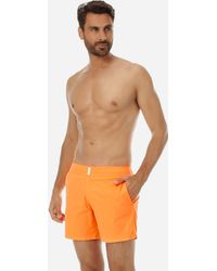 855757269a Vilebrequin Men Flat Belt Stretch Swimtrunks Solid in Blue for Men - Lyst