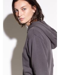 Vince | Raw Edge French Terry Hoodie | Lyst