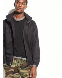 Vince - Coated Cotton Full Zip Hoodie - Lyst