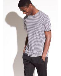 Vince - Striped Cotton T-shirt - Lyst