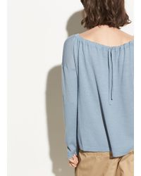 Vince - Cinched Back Cashmere Pullover - Lyst