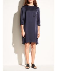 Vince - Gathered Shift Dress - Lyst