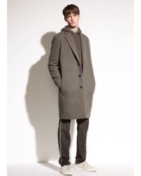 Vince - Distressed Brushed Wool Car Coat - Lyst
