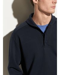 Vince - Shawl Collar Henley Sweater - Lyst