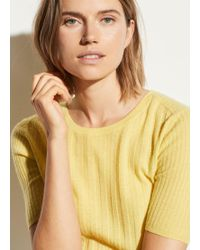 Vince - Cashmere Elbow Sleeve Pullover - Lyst