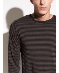 Vince - Striped Long Sleeve Cotton T-shirt - Lyst