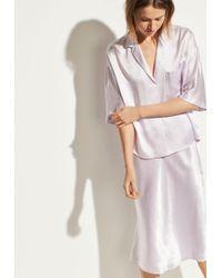 Vince Satin Pyjama Shirt