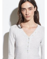 Vince - Cashmere-wool Waffle Henley - Lyst