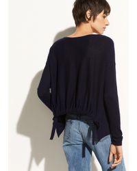 Vince - Shirred Back Pullover - Lyst