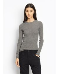 Vince - Cashmere Skinny Rib Crew - Lyst