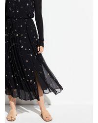 Vince - Metallic Embroidery Skirt - Lyst