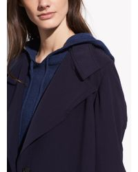 Vince Drapey Trench - Blue