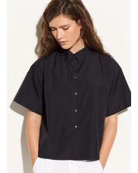 Vince - Short Sleeve Cotton Button Up - Lyst