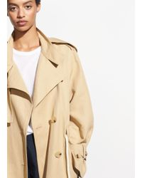 Vince - Long Linen Trench - Lyst