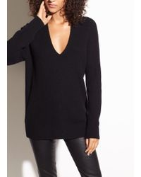 Vince - Raglan Wool And Cashmere Double V-neck - Lyst