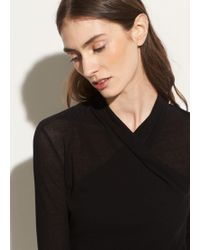 Vince - Long Sleeve Wrap Front - Lyst
