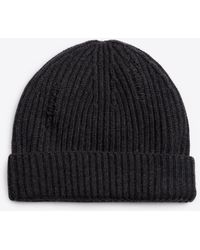 Vince - Distressed Wool And Cashmere Beanie - Lyst