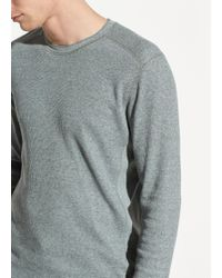 Vince - Waffle Long Sleeve Pullover - Lyst
