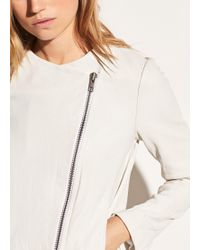 Vince | Cross Front Leather Jacket | Lyst