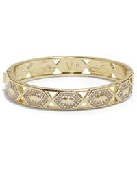 Vince Camuto - Goldtone Geo Cutout Bangle - Lyst