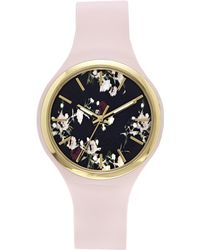 Vince Camuto - Floral Silicone-band Watch - Lyst