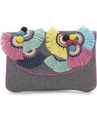 Vince Camuto - Witan – Embellished Woven Clutch - Lyst
