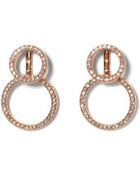 Vince Camuto - Rose Goldtone Front-back Circle Earrings - Lyst