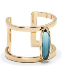 Vince Camuto - Blue Jewel T-bar Cuff - Lyst
