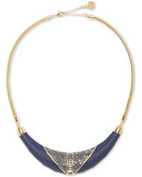 Vince Camuto - Leather-inlay Jewelled Necklace - Lyst