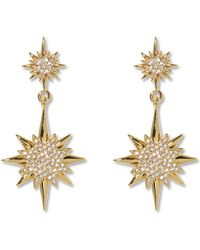 Vince Camuto - Goldtone Star Drop Earrings - Lyst