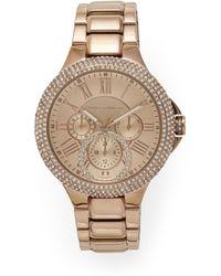 Vince Camuto - Rose Goldtone Crystal-embellished Link Watch - Lyst