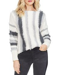 Vince Camuto - Striped Fringed Jumper - Lyst