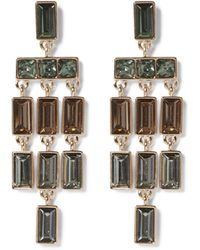 Vince Camuto - Mulicolored Jewelled Chandelier Earrings - Lyst