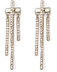 Vince Camuto - Silvertone Pavé Drop-back Earrings - Lyst