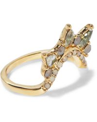 Vince Camuto - Goldtone Jeweled Curved Ring - Lyst