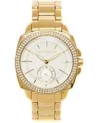 Vince Camuto - Goldtone Crystal-bezel Watch - Lyst