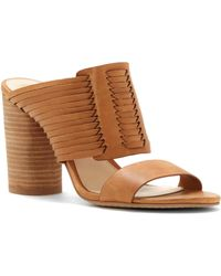 Vince Camuto - Astar Strappy Leather Slides - Lyst